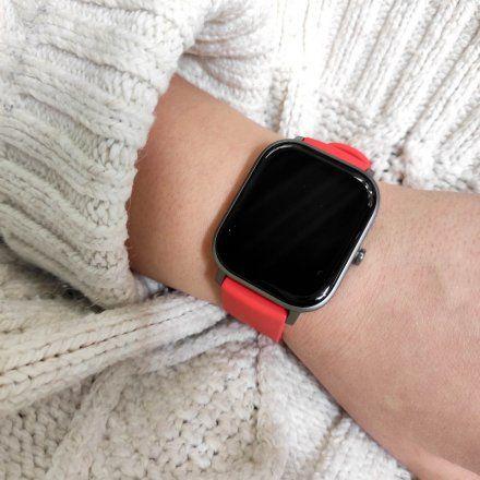 Amazfit GTS czerwony smartwatch Huami W1914OV6N