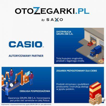 Niebieski budzik Casio wskazówkowy TQ-359-2EF