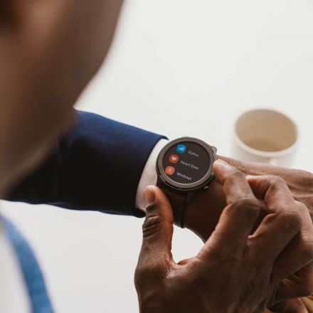 Amazfit GTR czarny z brązowym paskiem smartwatch Huami W1902TY1N