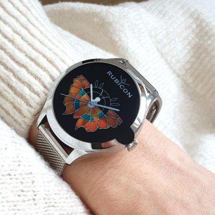 Srebrny smartwatch damski Rubicon RNBE62SIBX05AX