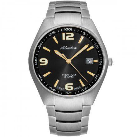 Zegarek Męski Adriatica na bransolecie A1069.415GQ - Zegarek Kwarcowy Swiss Made
