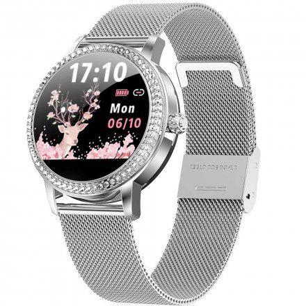 Srebrny smartwatch damski Rubicon RNBE63SIBX05AX