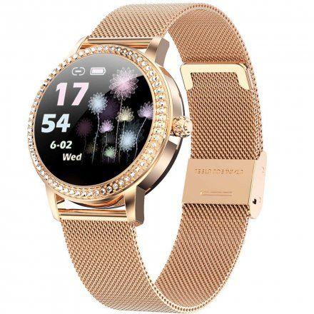Różowozłoty smartwatch damski Rubicon RNBE63RIBX05AX
