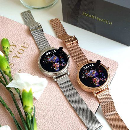 Srebrny smartwatch damski Rubicon RNBE64SIBX05AX