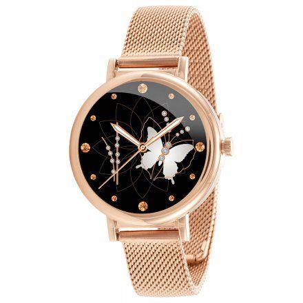 Różowozłoty smartwatch damski Rubicon RNBE64RIBX05AX