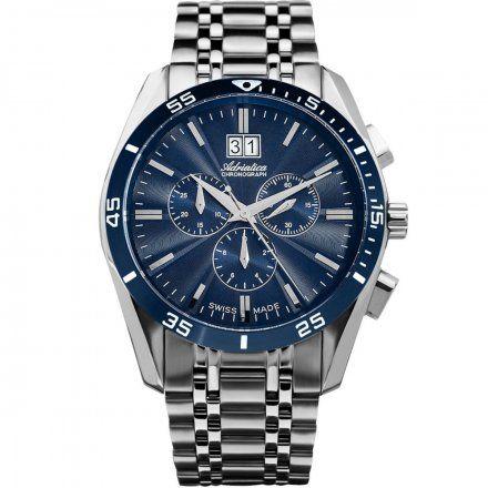 Zegarek Męski Adriatica na bransolecie A8202.T115CH - Chronograf Swiss Made