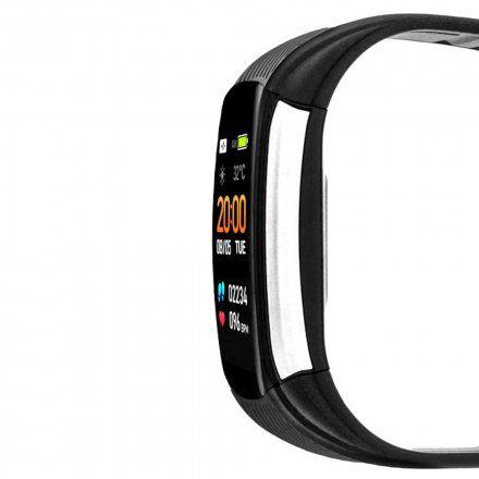 Czarny smartwatch męski damski Rubicon RNCE59BIBX01AX
