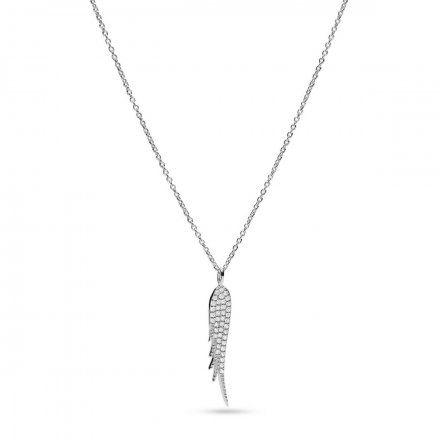 BIŻUTERIA FOSSIL Srebrny Naszyjnik damski skrzydła JFS00535040