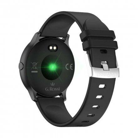 Czarny smartwatch Gino Rossi + czarny pasek G.RSWSF1-1A1-1