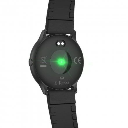 Czarny smartwatch G.Rossi + czarny pasek G.RSWSF1-1A1-1