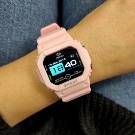 Smartwatch Marea jasnoróżowy sportowy damski dziecięcy B60002-6