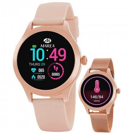 Różowozłoty Smartwatch Marea B59005-2 bransoletka + różowy pasek