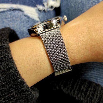 Srebrny Smartwatch Marea B59005-3 bransoletka + turkusowy pasek
