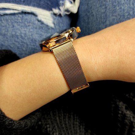 Różowozłoty Smartwatch Marea B59005-5 bransoletka + biały pasek