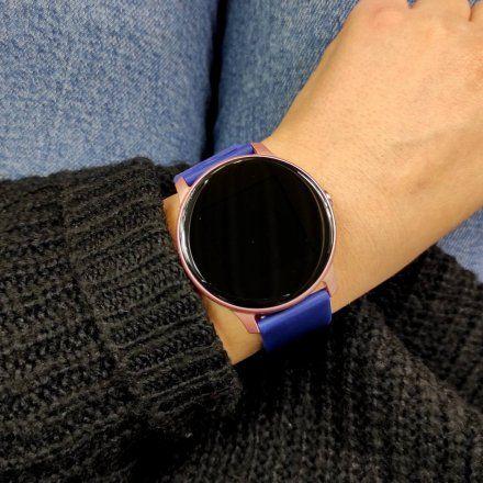 Różowy smartwatch z niebieskim paskiem Marea B59006-4