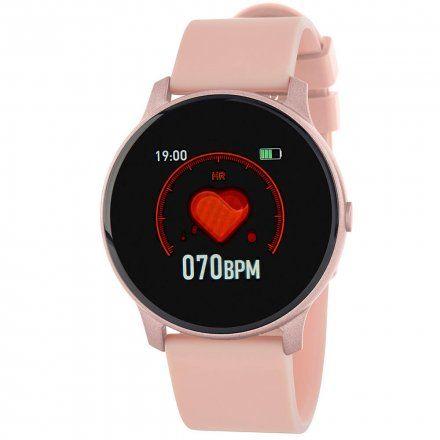Różowy smartwatch Marea B59006-3