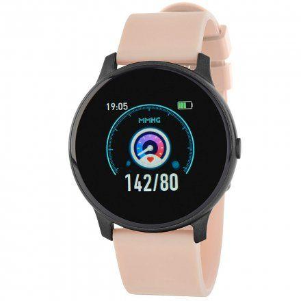 Czarny smartwatch z różowym paskiem Marea B59006-5
