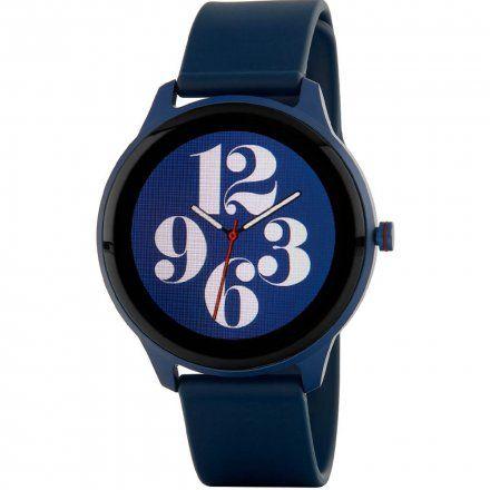 Granatowy okrągły smartwatch Marea B61001-2