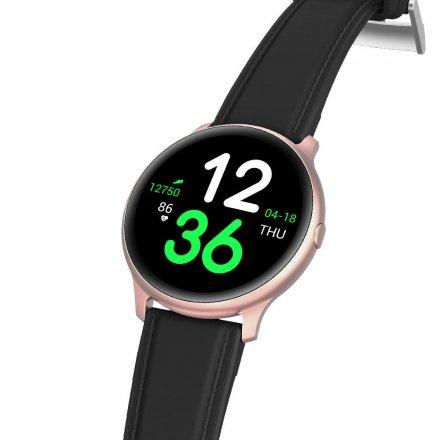 Różowozłoty smartwatch G.Rossi + biały pasek G.RSWSF1-4C2-1