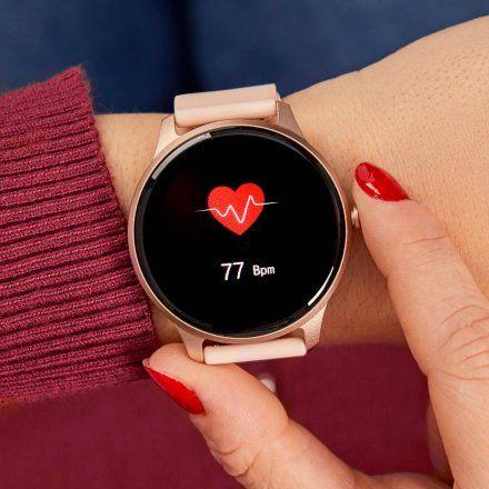 Różowy okrągły smartwatch Marea B61001-3