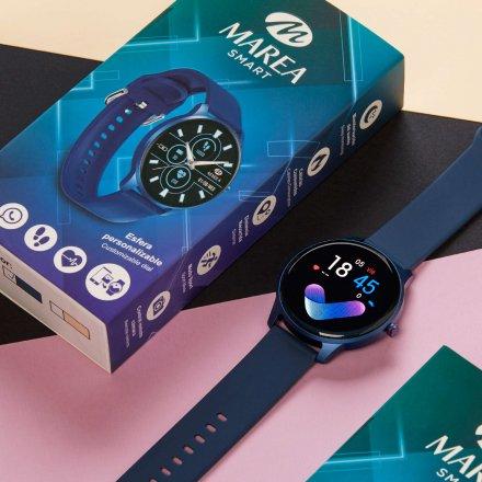 Liliowy okrągły smartwatch Marea B61001-4