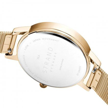 S705LXVVMV Złoty zegarek Damski Strand by OBAKU