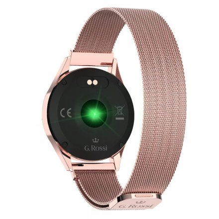 Różowozłoty smartwatch damski Gino Rossi + czarny pasek GRSWBF2-4D2-2