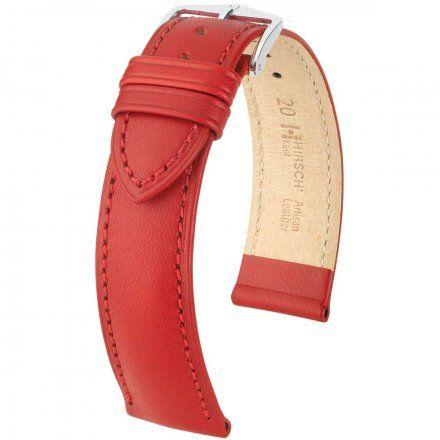 Czerwony pasek skórzany 18 mm HIRSCH Kent 01002020-2-18 (L)