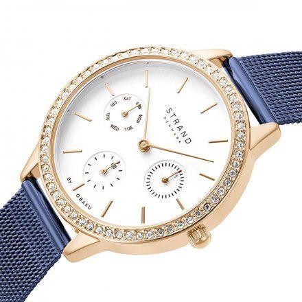 S704LMVIML Granatowy zegarek Damski Strand by OBAKU