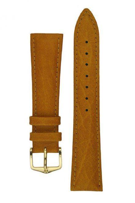 Jasnobrązowy pasek skórzany 17 mm HIRSCH Camelgrain 01009010-1-17 (L)