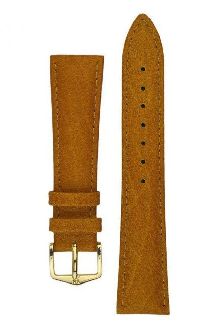 Jasnobrązowy pasek skórzany 19 mm HIRSCH Camelgrain 01009010-1-19 (L)