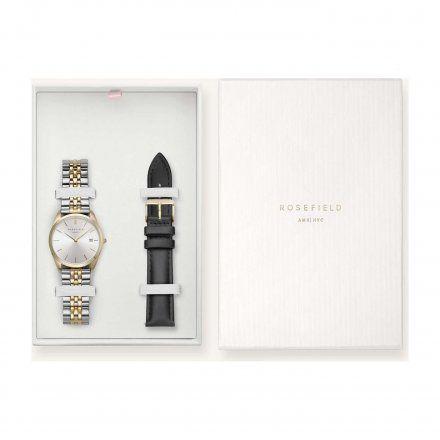 Zegarek Damski Rosefield The Ace + Pasek ASGBG-X239 Zestaw prezentowy