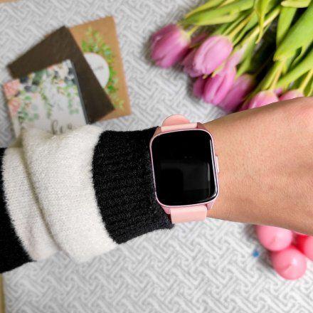 Różowy smartwatch Gino Rossi SW009-2
