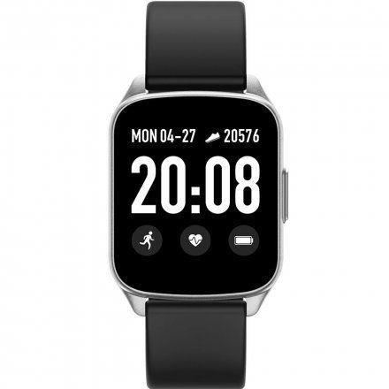 Srebrny smartwatch Gino Rossi SW009-5