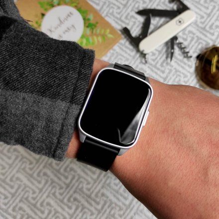 Srebrny smartwatch G.Rossi SW009-5