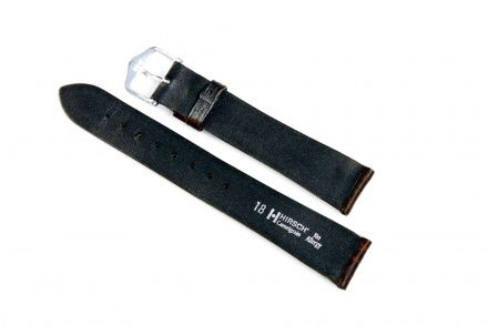 Brązowy pasek skórzany 20 mm HIRSCH Camelgrain 01009015-1-20 (L)