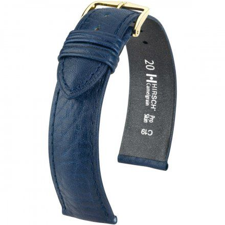 Niebieski pasek skórzany 16 mm HIRSCH Camelgrain 01009080-1-16 (L)