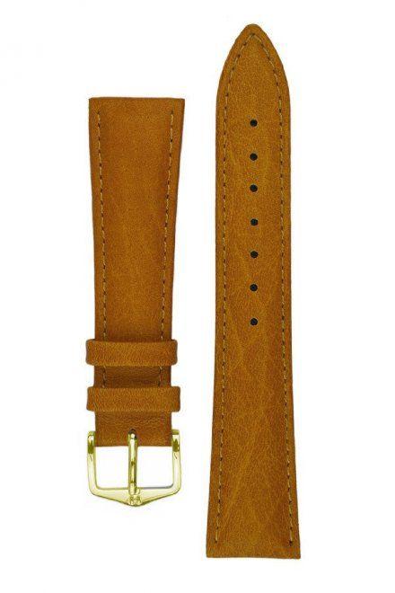 Jasnobrązowy pasek skórzany 8 mm  HIRSCH Camelgrain 01009110-1-08 (M)
