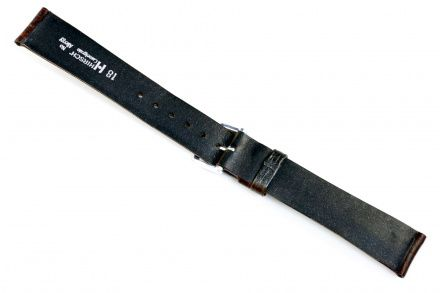 Brązowy pasek skórzany 18 mm HIRSCH Camelgrain 01009115-1-18 (M)
