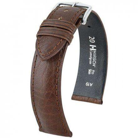 Brązowy pasek skórzany 18 mm HIRSCH Camelgrain 01009210-2-18 (XL)
