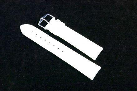 Biały pasek skórzany 26 mm HIRSCH Duke 01028001-2-26 (L)