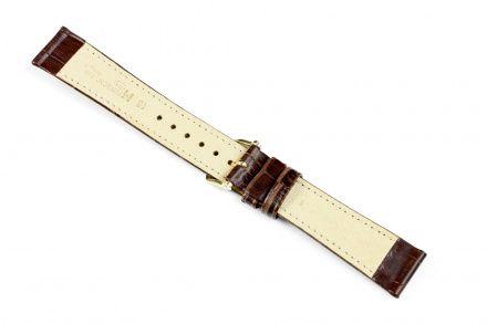 Brązowy pasek skórzany 17 mm HIRSCH Duke 01028010-1-17 (L)