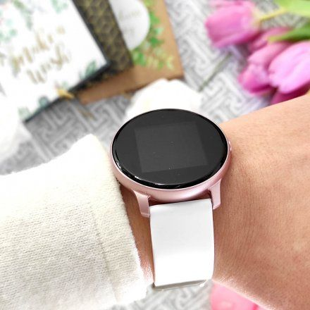 Różowozłoty smartwatch Gino Rossi SW010-7