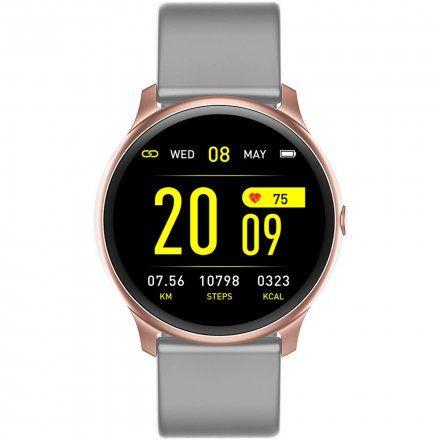 Różowozłoty smartwatch G.Rossi SW010-8