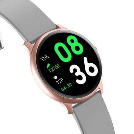 Różowozłoty smartwatch Gino Rossi SW010-8
