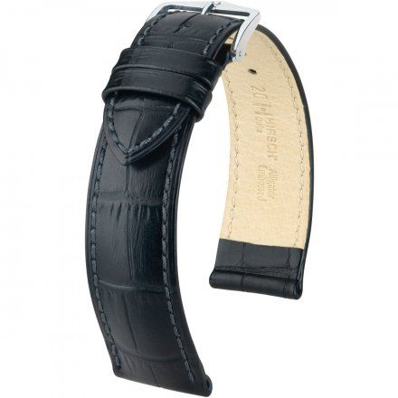 Czarny pasek skórzany 28 mm HIRSCH Duke 01028050-2-28 (L)