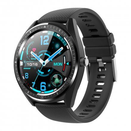 Czarny smartwatch Gino Rossi + czarny pasek SW011-1