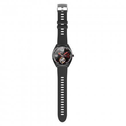 Czarny smartwatch Gino Rossi + czarny pasek SW011-2