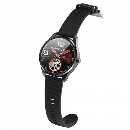 Czarny smartwatch G.Rossi + czarny pasek SW012-1