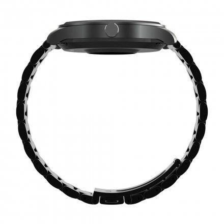 Czarny smartwatch Gino Rossi + czarny pasek SW012-1